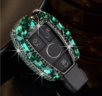 Gift Luxury Diamond Bling Key Case Holder Protective For Mercedes benz CLS CLA GL R SLK AMG A B C S class W203 W210 W211 W124