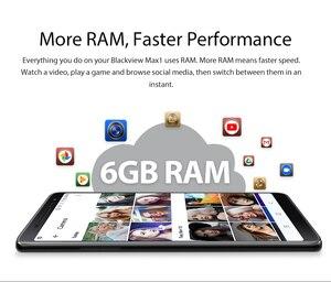 """Image 5 - Blackview MAX 1 Smartphone 6GB + 64GB 6.01 """"Dello Schermo 4680mAh MT6763T Octa Core Android 8.1 Dual SIM Del Telefono Mobile NFC Mini Proiettore"""