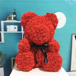 Tronzo 25 см для мыльной пенки плюшевый медведь Роза цветок украшение куклы медведь из роз искусственный День Святого Валентина подарок для