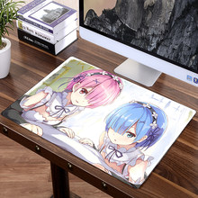 XL 60 x 40cm Japan Anime Mousepad Game Gamer gaming Mouse pad Best wife girl friend sister RE Rem Ram Emilia Korea(China)