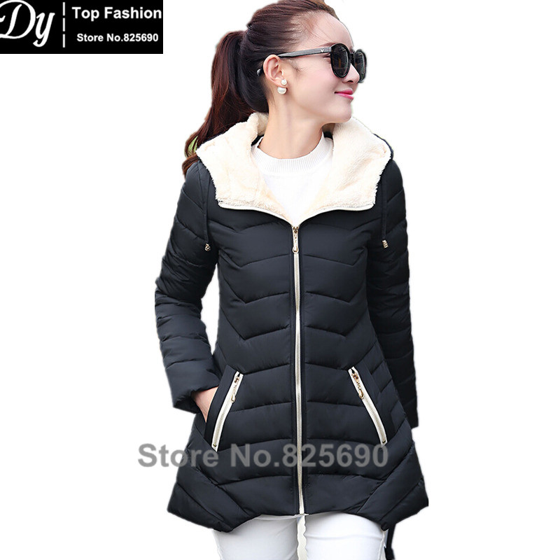 ФОТО New Warm Winter Jacket Women Cotton Jacket Fashion 2017 Girls Padded Slim Plus Size Hooded Parkas Female Coat 8 Color M-XXXL