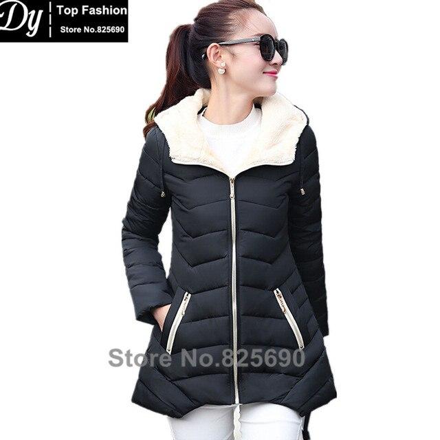 9bdac0359 Nova Jaqueta de Inverno Quente Jaqueta de Algodão Mulheres Moda 2017 Meninas  acolchoado Fino Plus Size