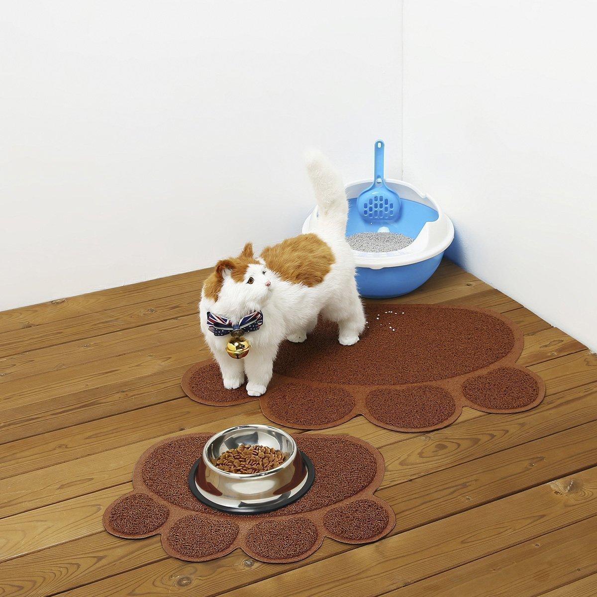 mat shop cat feeding food dog mats poppy paws