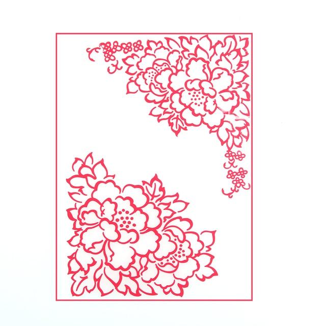 1 Pc Bunga Sudut Cetakan Embossing Folder Engraving Stensil Template