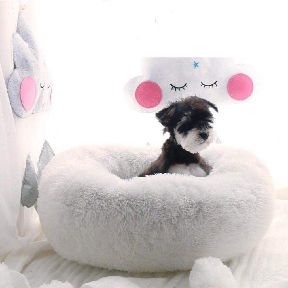 2018 Nieuwe Luxe Winter Ronde Puppy Huis Hond Bed Zachte Warme Donut Bed Voor Kleine Middelgrote Honden Cat Bed Pet Wasbaar Ademend Sofa Verkwikkende Bloedcirculatie En Stoppen Van Pijn