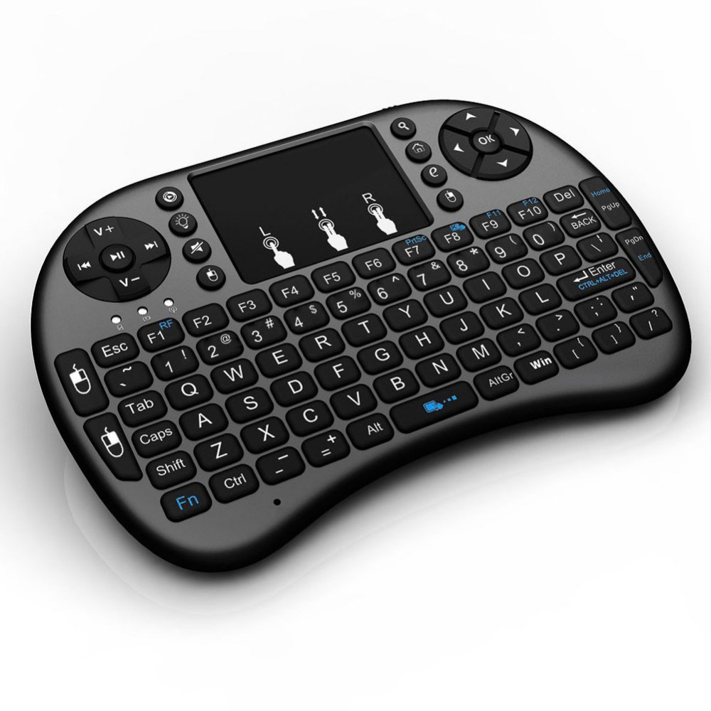 2.4G Mini USB Wireless English Russian Keyboard Touchpad Air Mouse Fly Mouse Gamepad for Windows PC Smart Phones brand new mini wireless english bluetooth keyboard mouse touchpad for windows android pc