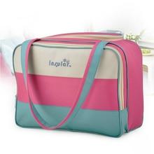 Fashion Colorful Stripe Mummy Maternity Diaper Nappy Pads Nursing Bag Travel Backpack Bottle Storage Designer Stroller Baby Care