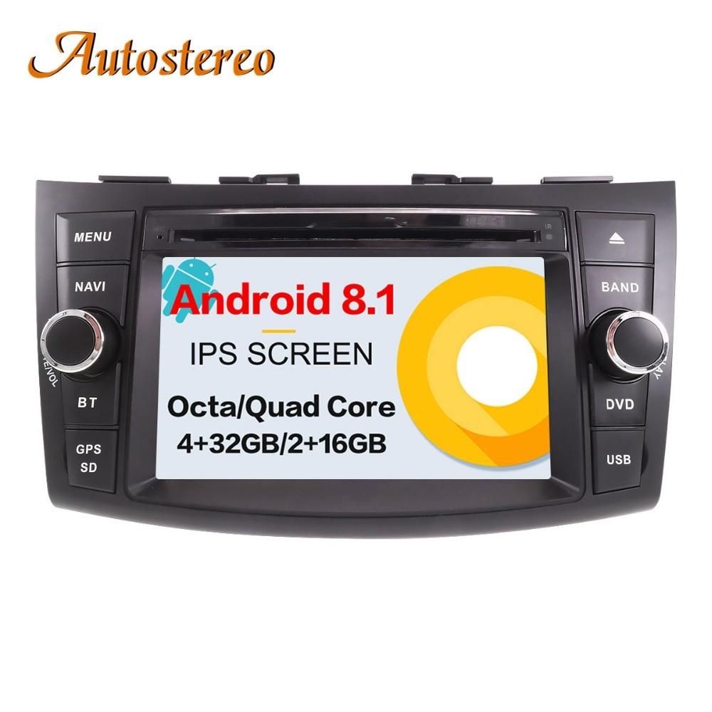 Android 8 Car DVD Player For SUZUKI SWIFT 2011 2016 GPS Navigation Satnav car 2 din radio stereo head unit radio tape recorder