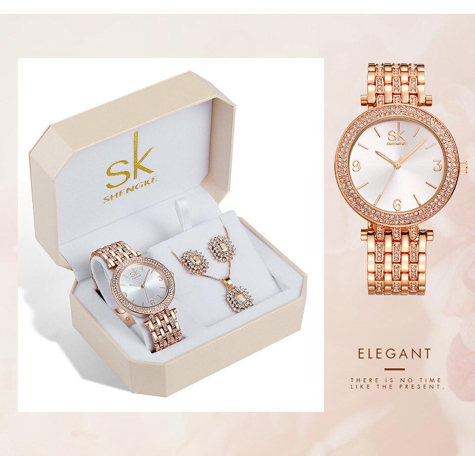 _10 Montres cristal bijoux ensemble pour femmes