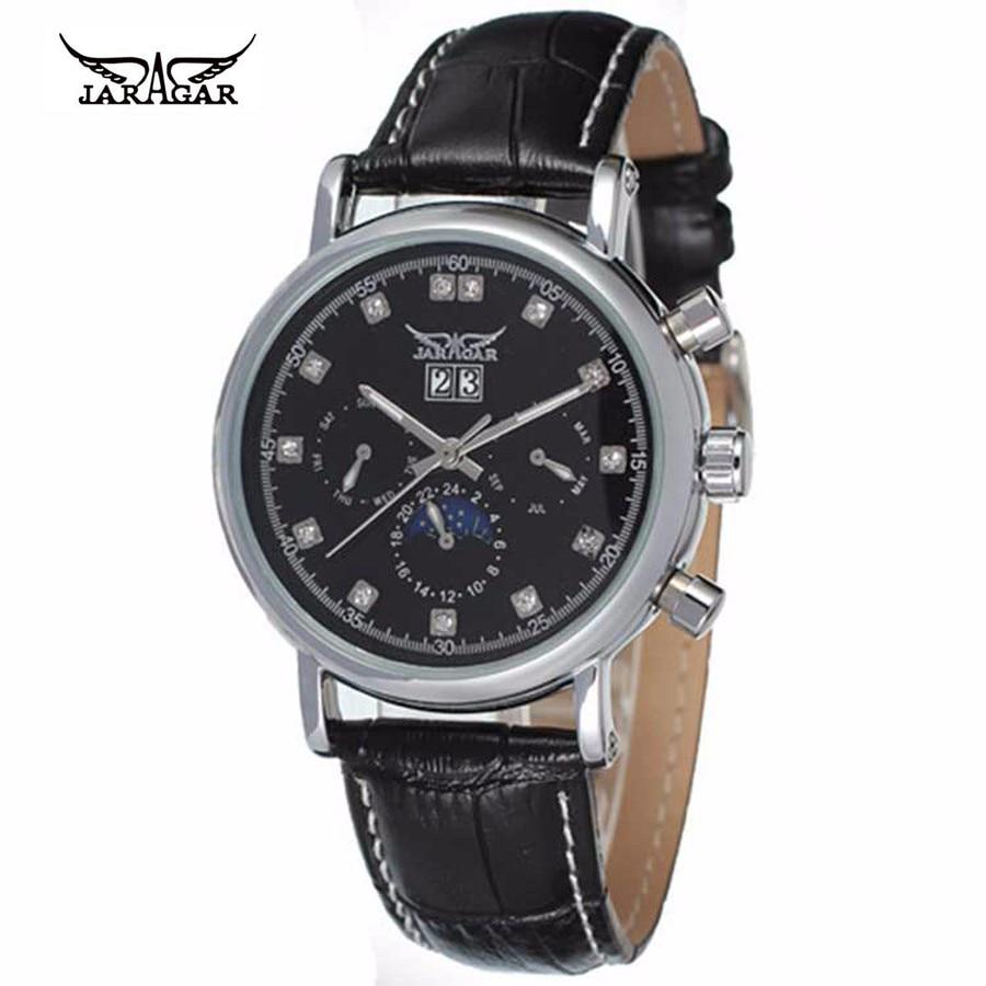 Men Watch Luxury Brand JARAGAR Automatic Mechanical Wrist Watches Stainless Steel Dial Tourbillon Watch Male Atmos Clock все цены