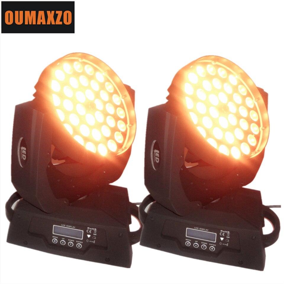 2 pcs/lot RGBAW LED zoom stade lumière 5 en 1 LED zoom lavage LED orientable dj lavage lumière RGBWA 5in1 LED s déplacer la tête 36x15 w dmx lavage