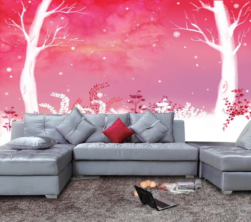 Europe printed imagism painting style wallpaper use for living room ...