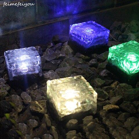 luzes solares do assoalho do diodo emissor de luz das luzes de vidro enterradas da
