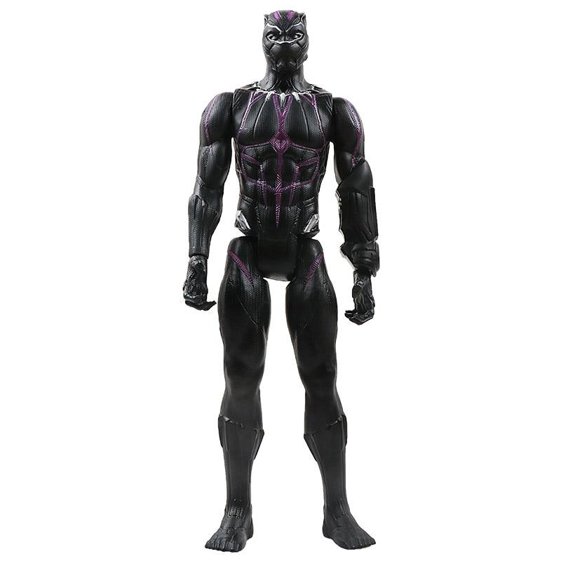 30 см Marvel Мстители эндшпиль танос Человек-паук Халк Железный человек Капитан Америка Тор Росомаха Веном Фигурка Игрушки Кукла Детская - Цвет: New Panther no box