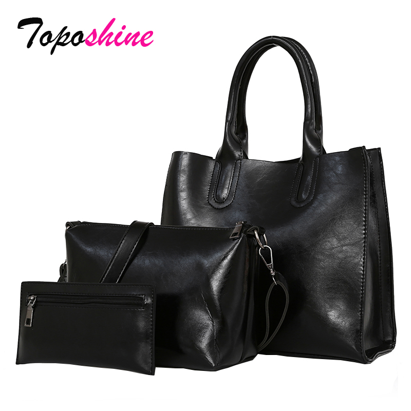 2018 Korean Version of the New Wave of Tide Fashion Wild Three-Piece Set of Simple Casual Retro Portable Shoulder Messenger Bag 2018 new korean version of the shoulder diagonal bag lady fashion women s bow hand packet