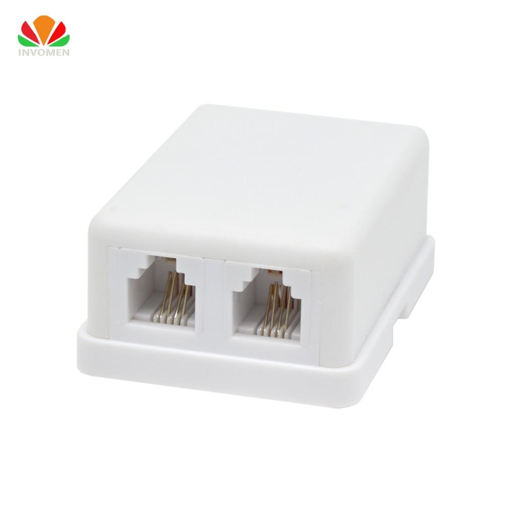 Desktop Telephone Junction Box 2 Line Into 2 Port Phone