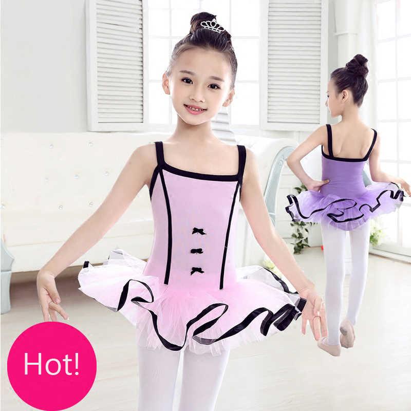 4205d30081198 Розовый/Фиолетовый Дети Слинг танцевальная одежда из тюля одежда для  бальных танцев для Обувь для