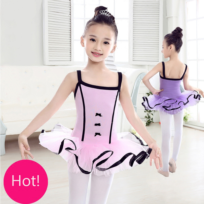 Girl Ballet Dance Dress Toddler Kids Open Back Gymnastics Leotard Tutu Dancewear
