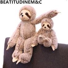 цена на 1pc 50/70cm Simulation Toy Sloth Baby Doll Animal Plush Toys Stuffed Dolls Children's Toys Birthday Gifts Home Decor