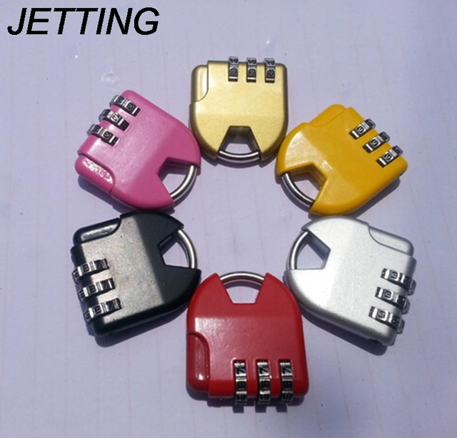 d9f4a8157bbd US $0.98 16% OFF|JETTING 1PCS Best Selling 3 dial Combination Lock Luggage  Travel Padlock Number Lock For Bag Handbag Suitcase Random Color-in Locks  ...