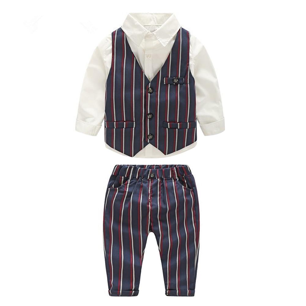 New Arrival 3pcs/Set Kids Child Boys Gentlemen Suits Shirt+Striped Vest+Pants Children Autumn Winter Fashion Clothes Set 3-7Y ремни lee ремень gentlemen