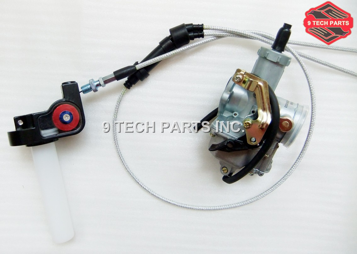 PZ30 30mm Carburateur kit Powerjet Accélérer Pompe Carburateur + Twister + Câble pour 175-250cc Dirt Pit Bike ATV Quad