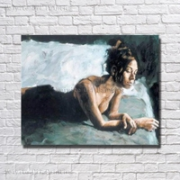 Beautiful Girl Big Tits In the Bed Canvas Picture No Frame Canvas Wall Art Hand Paint Wall Pictures For Living Room Decor
