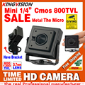 Новый Микро Конус 3.7 мм объектив HD 1/4 CMOS 1200TVL Маленький Цветной Аналоговый Видео CCTV Безопасности Мини Камеры наблюдения Металла имеют Кронштейн