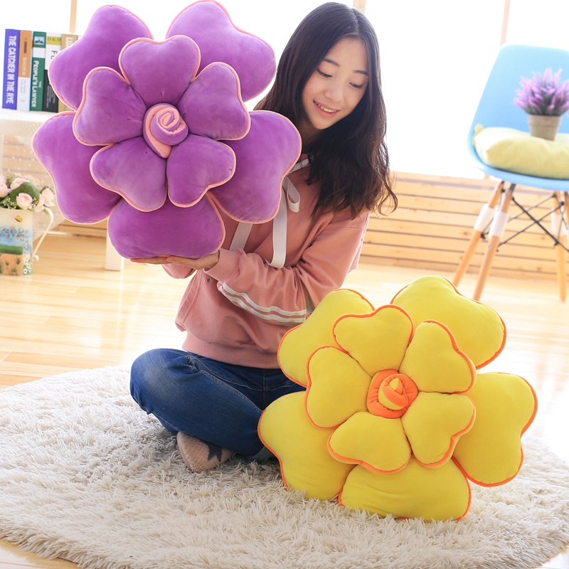 New style 55cm large size toys Cute flower pillow soft cushion stuffed plush rose plush toys wedding gift for Children kids toy fancytrader new style giant plush stuffed kids toys lovely rubber duck 39 100cm yellow rubber duck free shipping ft90122