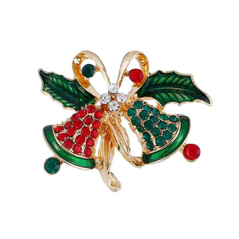 Oro Antico di cristallo Del Fiore Spille Spille di Sicurezza Spilli per la Cerimonia Nuziale della Damigella D'onore Del Partito di Strass Bouquet Spilla Spille Di Natale
