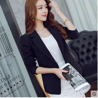 2019 女性のファッション長袖カジュアルブレザー女性プラスサイズフォーマルなスリムブレザーブレザー黒オフィス婦人服スーツ