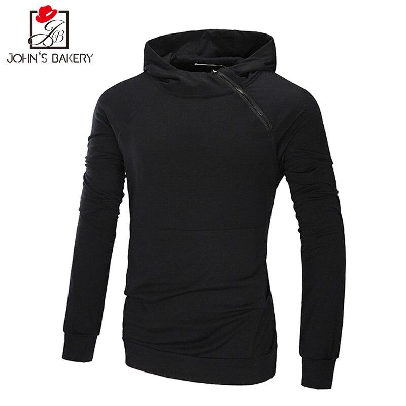 New Hoodies Men 2018 Male Long Sleeve Hoodie Thin Section Oblique Pull Sweatshirt Mens Moletom Masculino Hoodies Slim Tracksuit