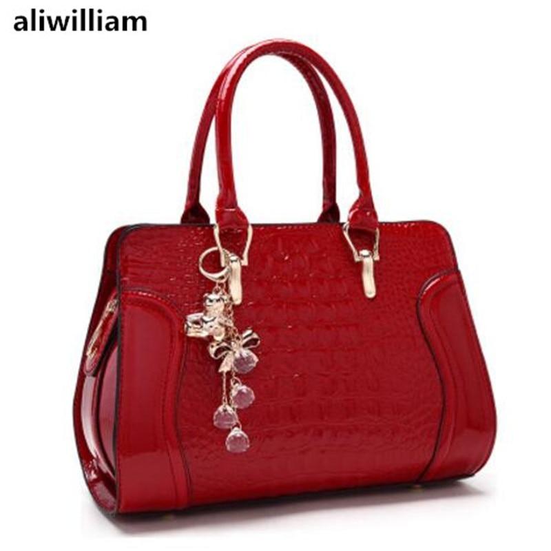ALIWILLIAM 2017 Summer New Tide Crocodile Pattern Fashion Bride Bag Wedding Women Bag Handbag Shoulder Bag