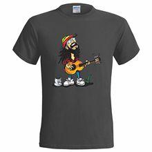 REGGAE BUSKER DESIGN MENS T SHIRT FESTIVAL MUSIC GUITAR RASTA MUSICIAN MARLEY Shirt Cotton Men Short Sleeve Tee Shirts