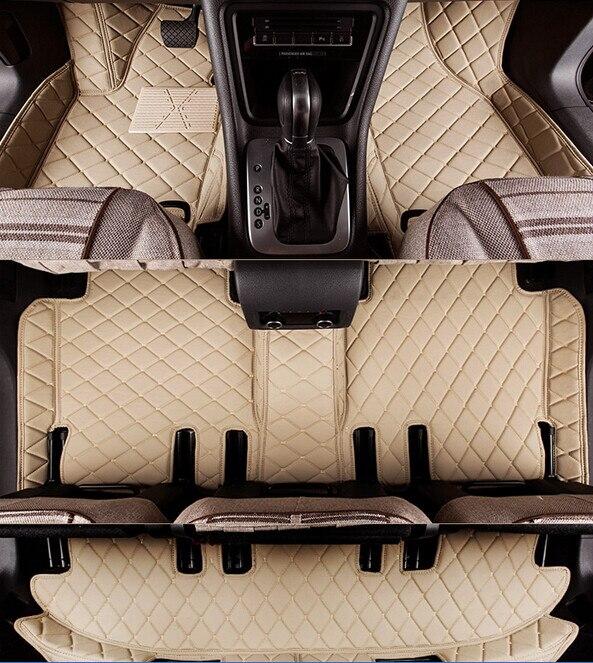 Newly & Free shipping! Custom special floor mats for Toyota Highlander 7 seats 2018-2015 durablecarpets for Highlander 2017