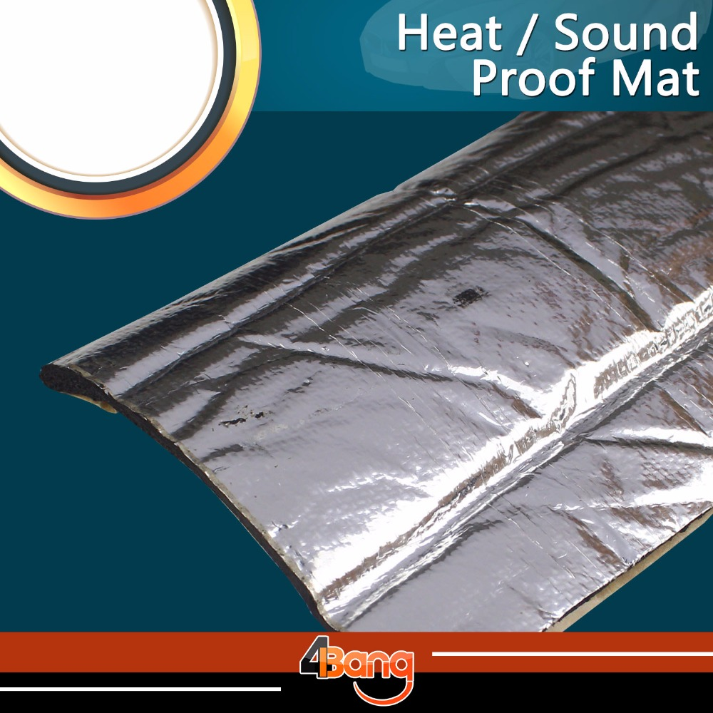 Voiture-style 200*100 cm 10mm épaisseur tueur de chaleur silencieux bouclier Mat portes en aluminium/toit isolation acoustique auto-adhésif anti-bruit