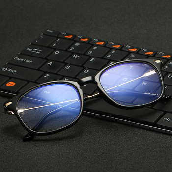 VCKA Brand TR90 Anti Blue Light Goggles Reading Glasses Protection Eyewear Titanium Frame Computer Gaming Glasses For Women Men
