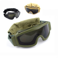Black Tan Green Tactical Goggles Military Shooting Sunglasse