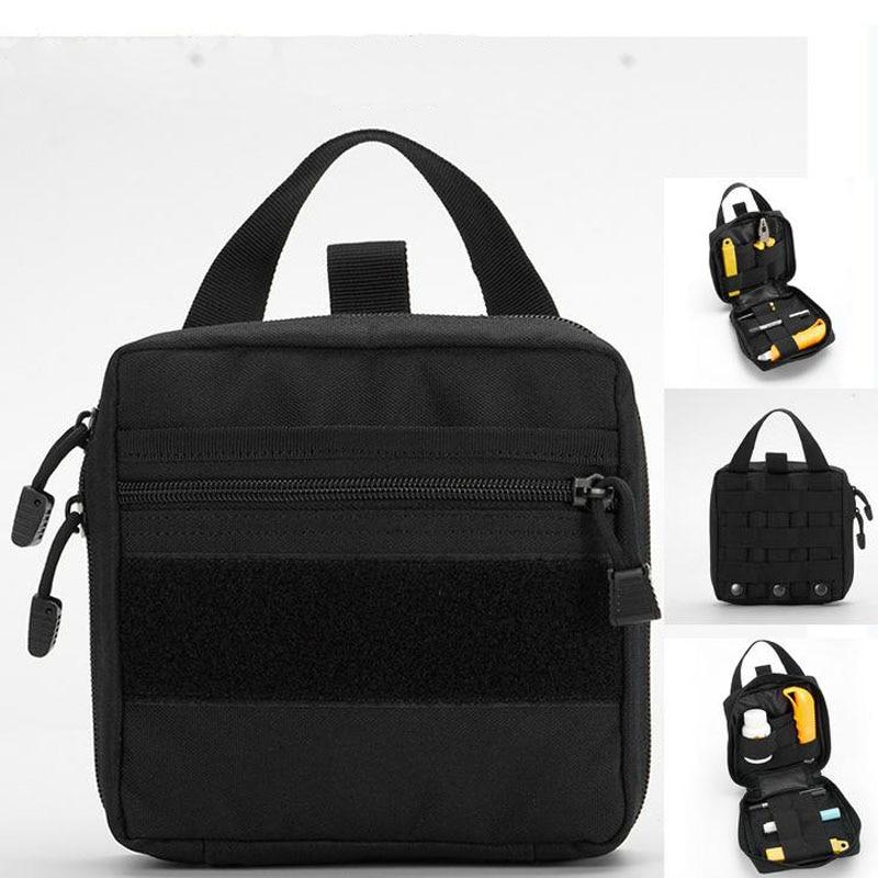 Outdoor  Medical Bag First Aid Kit Outdoor Sports Black Nylon Waterproof Cross Messenger Bag Family Travel Emergency YJJB028