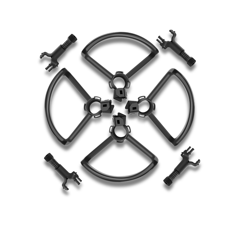 4pcs Propeller Guard  Protection Cover + 4pcs Shock Absorption Damping  Heighten Landing Gear  For DJI Spark Drone Accessories
