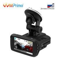 AMPrime Ambarella A7 Автомобильный видеорегистратор с антирадар, gps 3 в 1 Full HD 1080 P Русский язык видео Регистраторы регистратор LDWS Dashcam