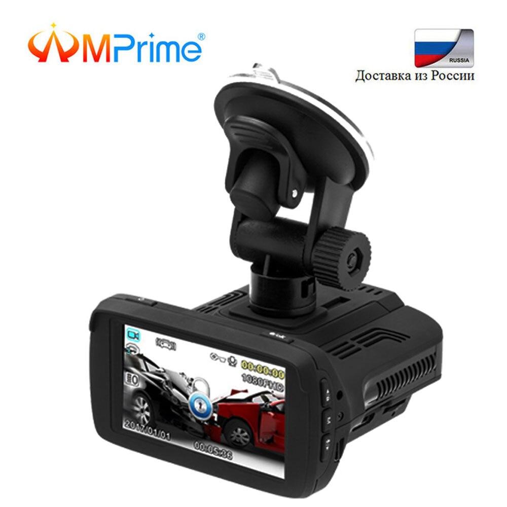 AMPrime Ambarella A7 voiture Dvr Anti Radar détecteur GPS 3 en 1 Full HD 1080 P russe langue enregistreur vidéo registraire LDWS Dashcam
