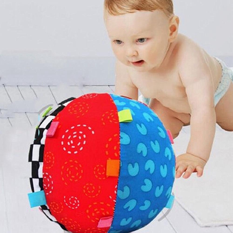 Baby Hand Grasp Ball Music Sense Ball Bell Children Multicolor Toys Cloth Educational Learning Kids Children Fun Toys Ball zk10