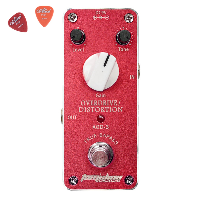ФОТО AOD-3 Overdrive/Distortion Guitar Effect DC9V Power Supply Aroma Pedal Effects CE ROHS guitar accessories