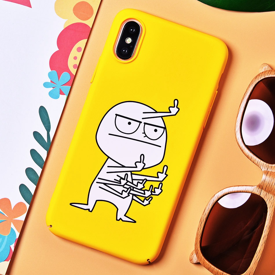 TOMKAS BAD BAD BOY Phone Case for iPhone XS XS Plus Case for iPhone X 2018 9 Yellow Cover Funny Naked Banana Cute Cartoon Coque (2)