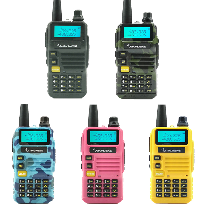 Image 2 - 2pcs Quansheng UV R50 Walkie Talkie 5W 2800mAh Dual Band Portable Mobile Radio Hf Transceiver Ham Radio Station CB Baofeng Uv 5r-in Walkie Talkie from Cellphones & Telecommunications