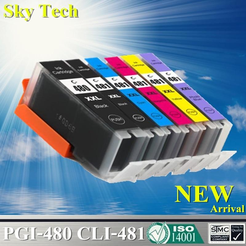 Compatible Ink Cartridges For PGI480 CLI481 PGI 480 CLI 481 For Canon Pixma TR7540 TR8540 TS6140