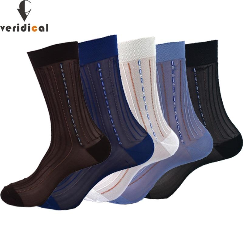 Достоверные 10 пар/лот большой Размеры летние носки Для мужчин s нейлон тонкие дышащие Для мужчин шелковые носки Бизнес работы Вечерние плат...
