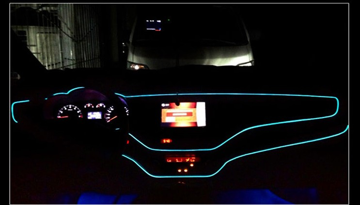 CAR LED Cold lights Flexible Neon EL Wire For Ford Focus 2 3 Maverick Escape kuga C-MAX cmax c max Grand C-MAX Car Accessories набор автомобильных экранов trokot для ford maverick 2 2000 2007 на передние двери укороченные