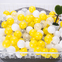 200 Pcs/Lot Plastic Balls Eco Friendly Yellow Balls Soft Kid Swim Ball Pit Toy Outdoor Beach Ocean Wave Ball Pool Toys for Child